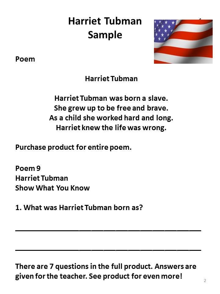 Erfreut Harriet Tubman Arbeitsblatt Zeitgenössisch - Super Lehrer ...