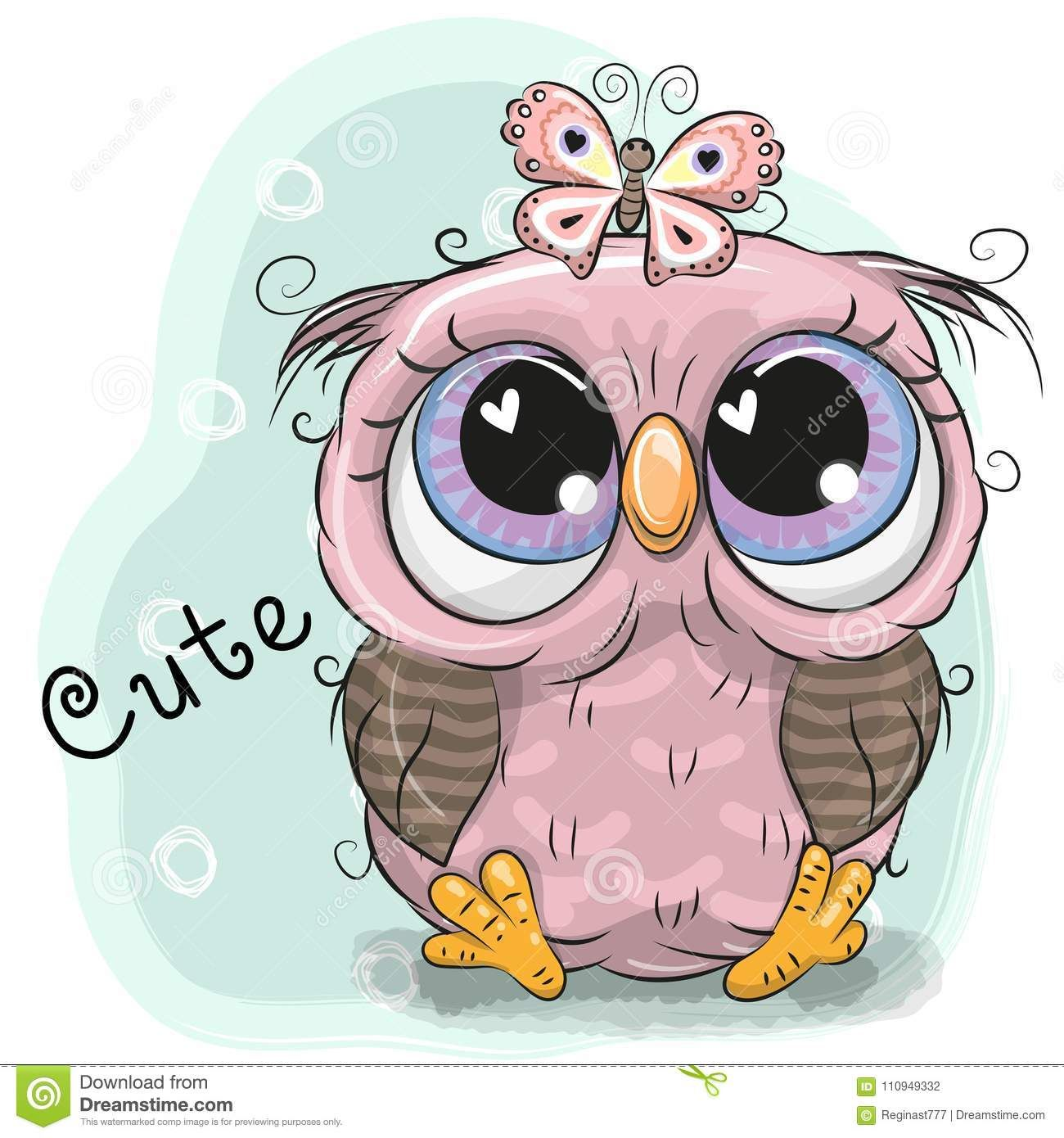 Illustration About Cute Drawing Owl Girl And Butterfly On A Blue Background Illustration Of People Color Charact Cute Owl Cartoon Owls Drawing Cute Drawings