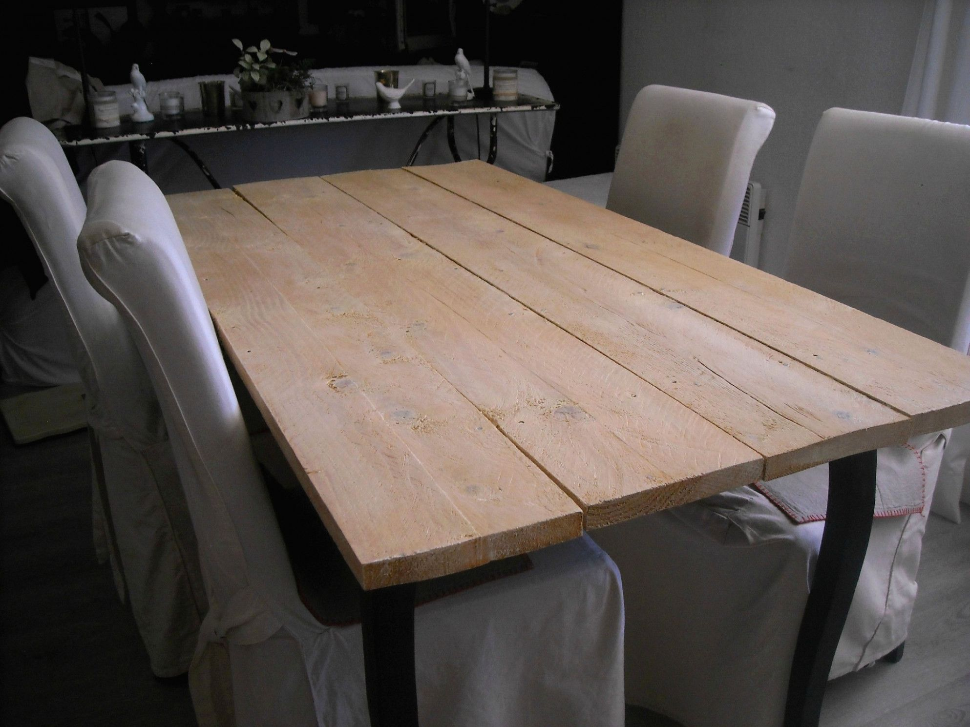Fabriquer Une Table De Ferme En Bois   Dining table, Rustic dining ...