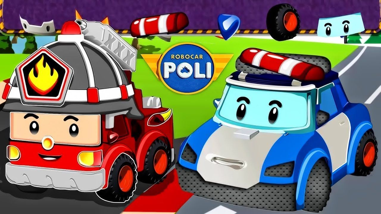 Robocar Poli Rescue Town City Games With Amber Car Games For Kids De Car Games For Kids Car Games Truck Games For Kids