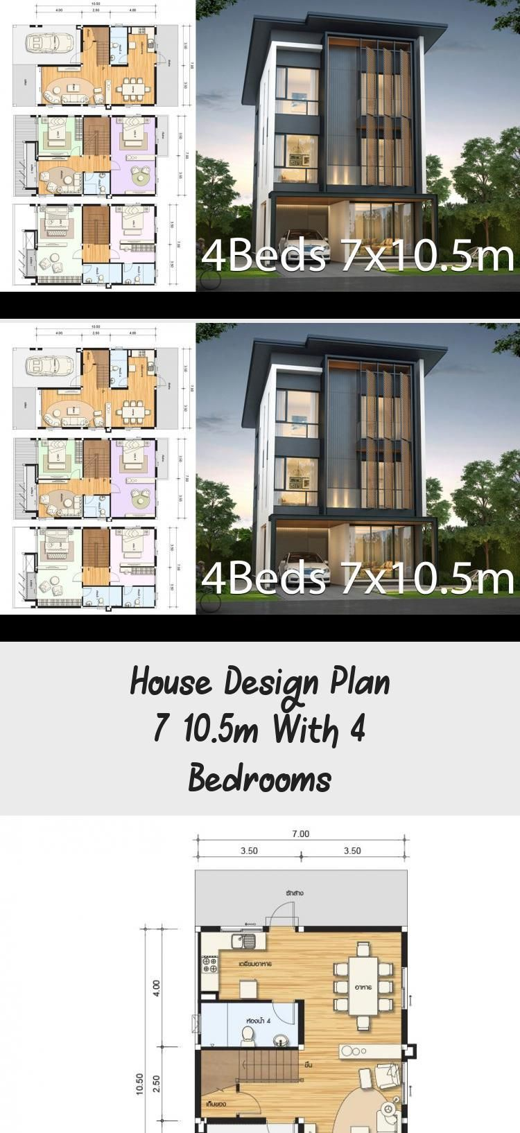 House Design Plan 7x10 5m With 4 Bedrooms Home Design With Plansearch Modernhousedesign Indianhousedesign Classichousedesign Hous In 2020 Home Design Plans Classic House Design Indian Home Design
