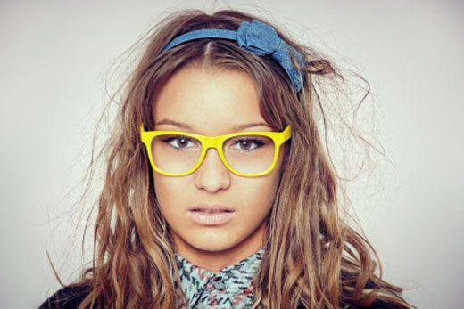 Closer To The Real Hairstyle Nerd Glasses Glasses Fashion Yellow Fashion