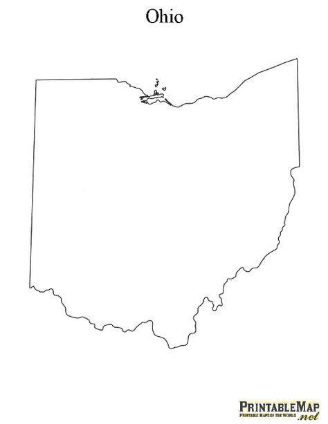 Free Ohio Map.Printable Map Of Ohio School Projects Pinterest Ohio Map