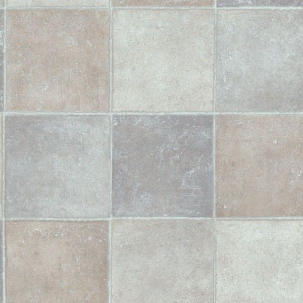 Ecostep Patio Square Stone Tile D592 Cushioned Vinyl Flooring