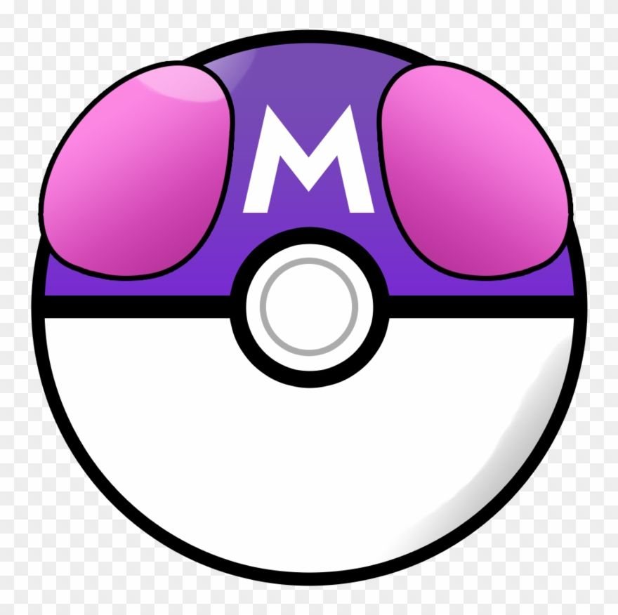 Download Hd Pokeball Clipart Clear Background Pokemon Master Ball Png Transparent Png And Use The Free Clipart For Your C Master Ball Clip Art Pokemon Master