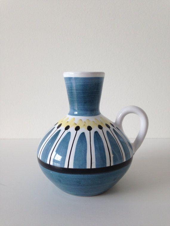 Mid Century Scandinavian Art Pottery By Dustbunnycornerstore 42 00 Colorful Ceramics Mid Century Ceramics Mid Century Pottery
