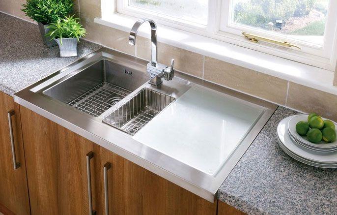 Clean, modern Astracast Bistro 1.5 bowl kitchen sink