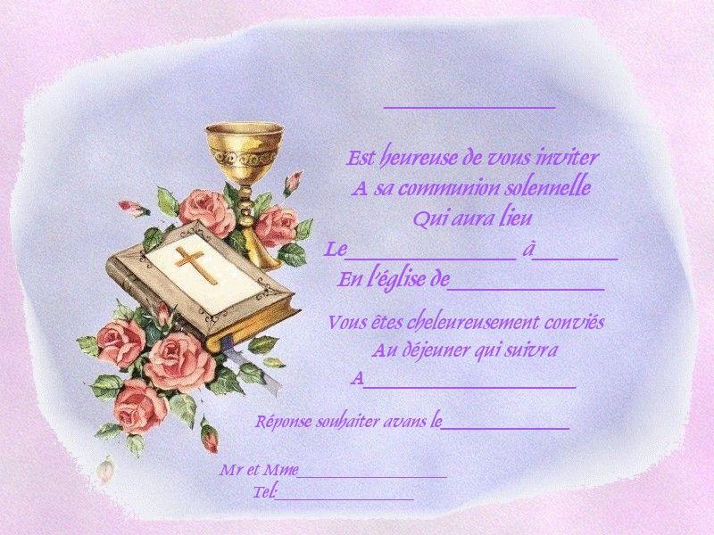 Resultat De Recherche D Images Pour Carte D Invitation De Communion Gratuite Communion Tableware