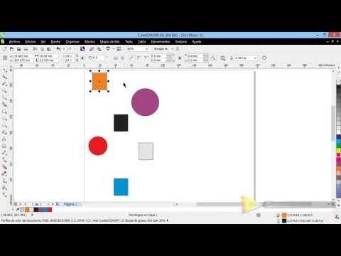 alinear y distribuir introducci n a coreldraw x6 x5 x4 curso rh pinterest ca corel draw x4 instruction manual corel draw x4 user guide pdf