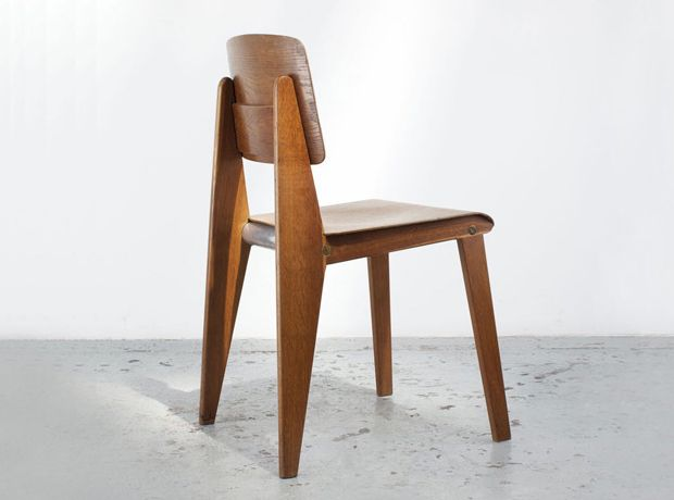 Wooden standard chair by jean prouvé furniture
