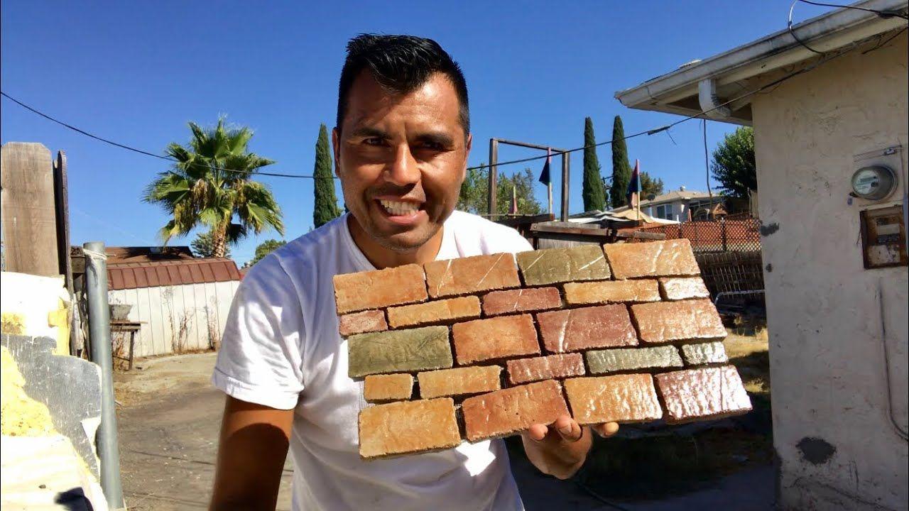 Como Hacer Revestimentos De 1 Dolar How To Make 1 Backsplash Panels Revestimiento De Piedra Paredes De Cemento Cómo Hacer