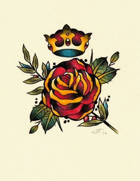 Pin By Acelin Eck On Art Crown Tattoo Design Traditional Tattoo Crown Crown Tattoo
