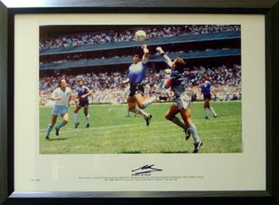Diego Maradona Hand Of God Print Diego Maradona World Football World Cup