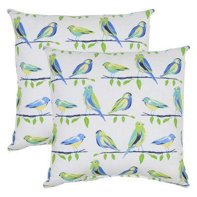 Plantation Patterns Birds 18 in. Throw Pillow Savannah - 7680-02287776