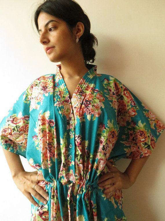 Teal Nursing MaternityHosptial Gown DeliveryKaftan by silkandmore