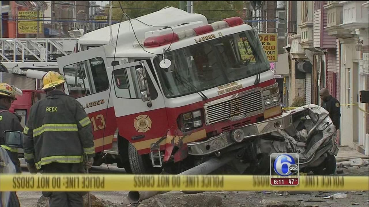 5 Firefighters Injured After Fire Truck Hits Parked Cars In West