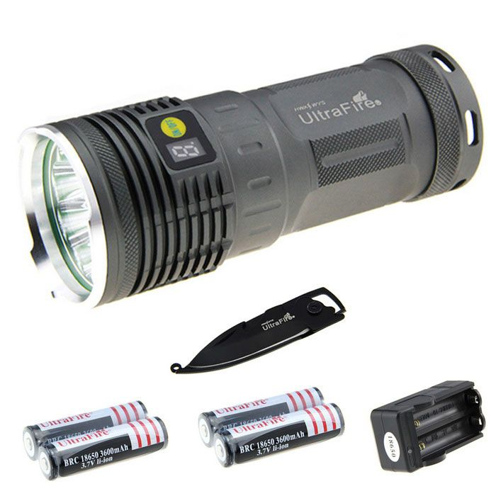 Waterproof Rechargeable 7187lm Flashlight Kit w/ Multi-tool. Find the cool gadgets at a incredibly low price wi