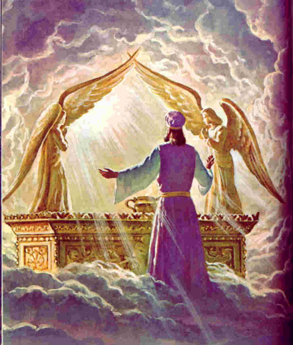 The High Priest Seeks Yahweh In Prayer Before The Ark Of