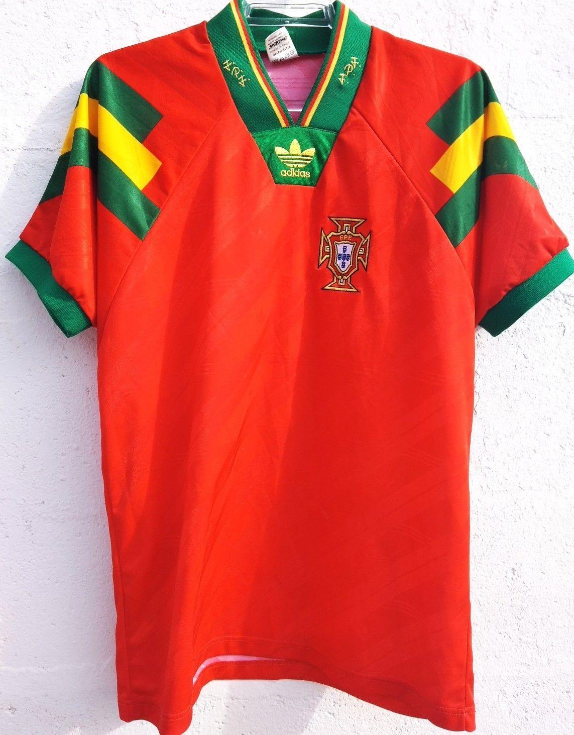 be93c0ece 1993-1994 PORTUGAL ADIDAS HOME FOOTBALL SHIRT PORTUGAL CAMISA FUTEBOL (SIZE  L )