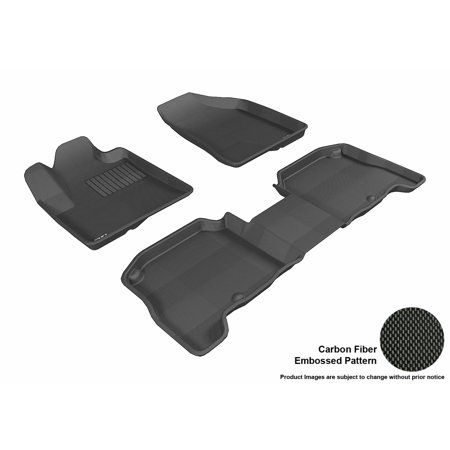 3d Maxpider 2007 2009 Hyundai Santa Fe Front Second Row Set All Weather Floor Liners In Black With Carbon Fiber Look Walmart Com Hyundai Santa Fe 2009 Hyundai Santa Fe Floor Liners