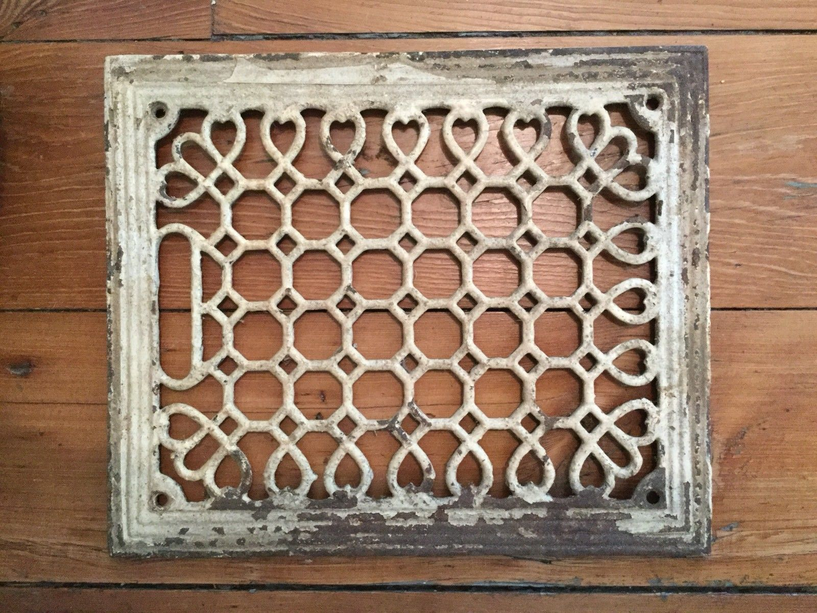 Antique Victorian Ornate Cast Iron Heat Grate Vent Register 9 3 4 X 11 1 2 Ebay Antique Cast Iron Bathroom Fan Floor Vents