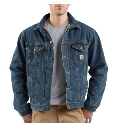 Carhartt - Product - Men's Denim Jean Jacket/Sherpa Lined