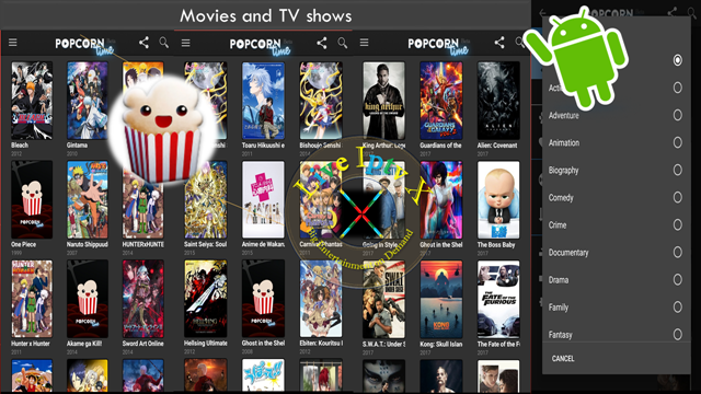 Best Streaming TV Online Popcorn time APK For Android