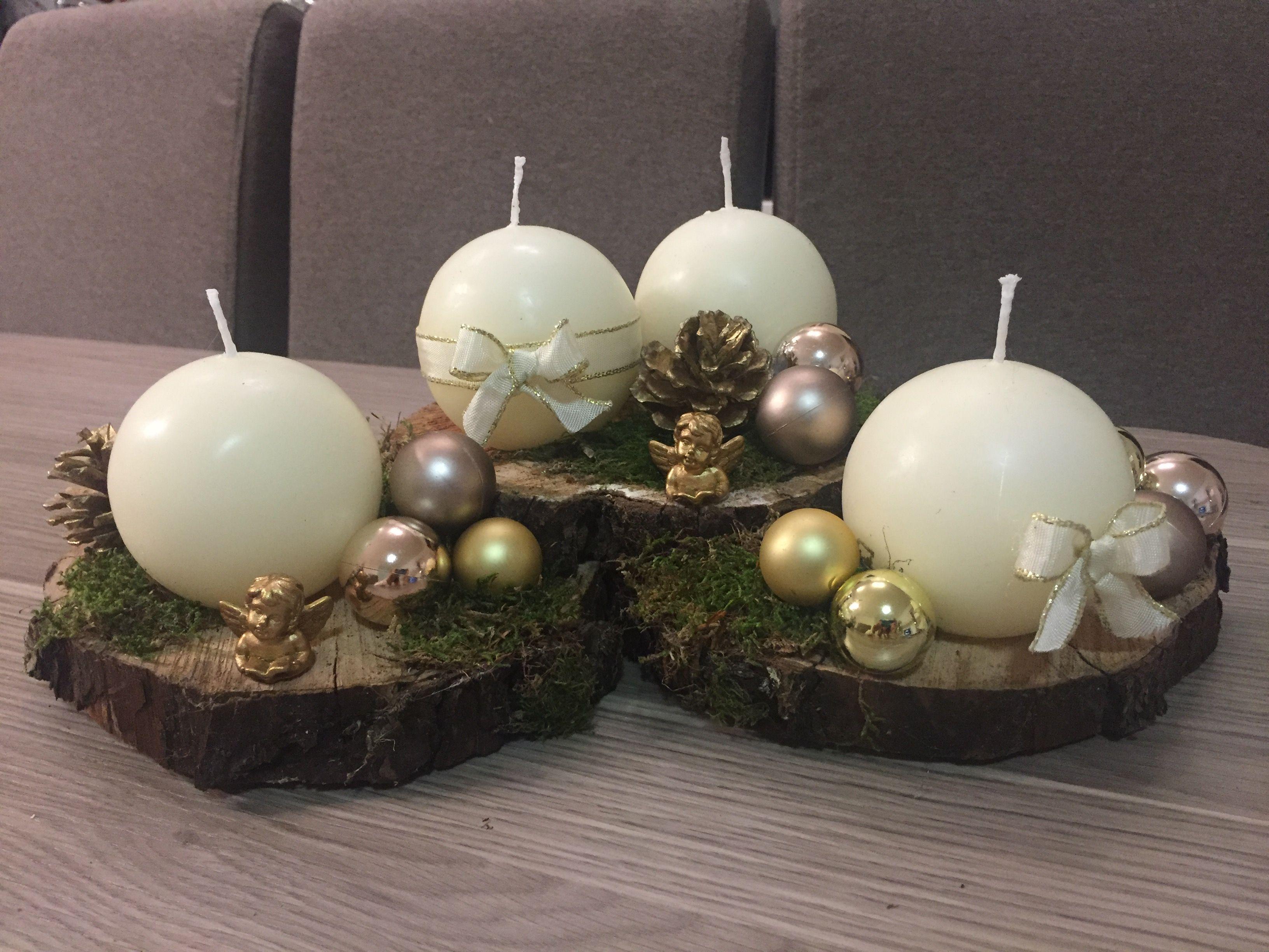 My 2017 homemade advent wreath. Homemade advent wreath