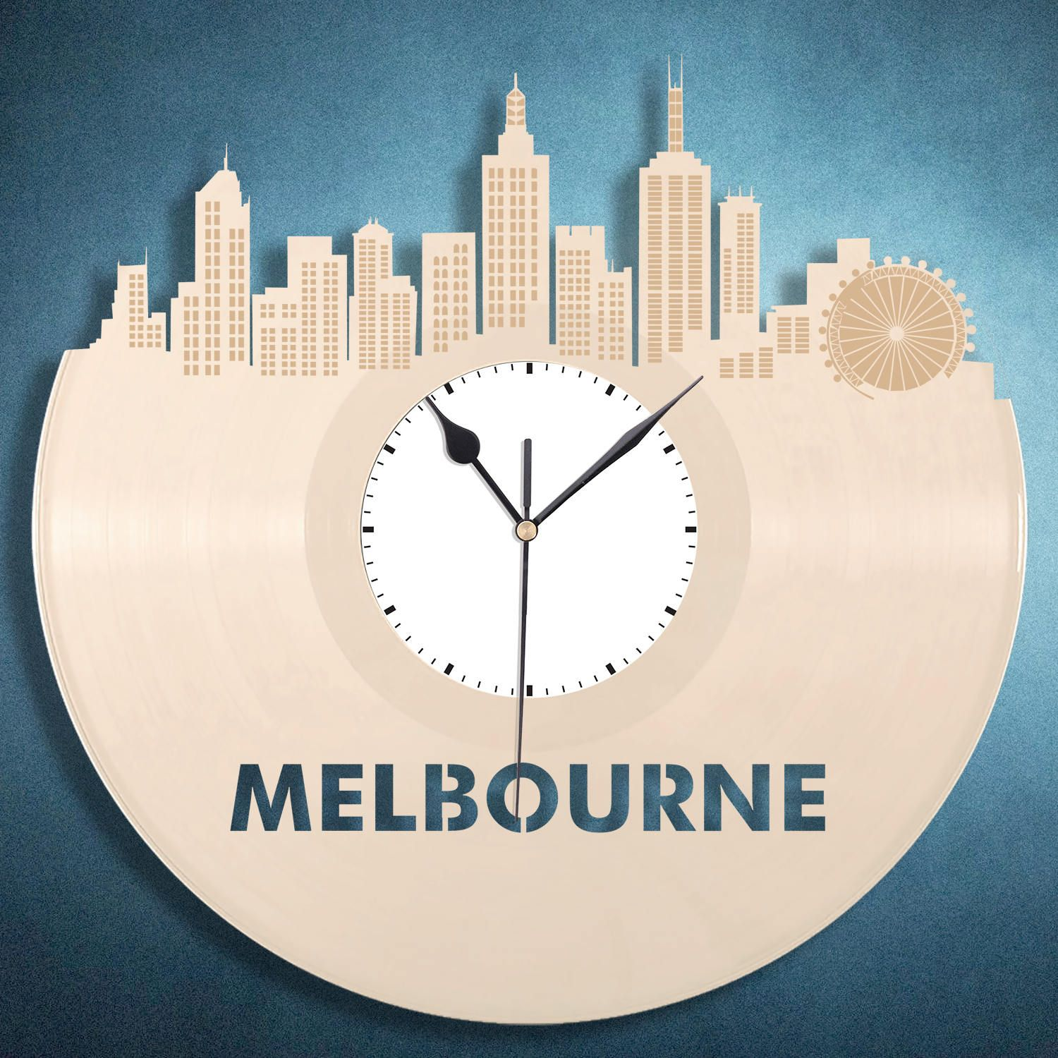 Melbourne Clock Australian Gift Travel Birthday Gifts Modern Wall Decor