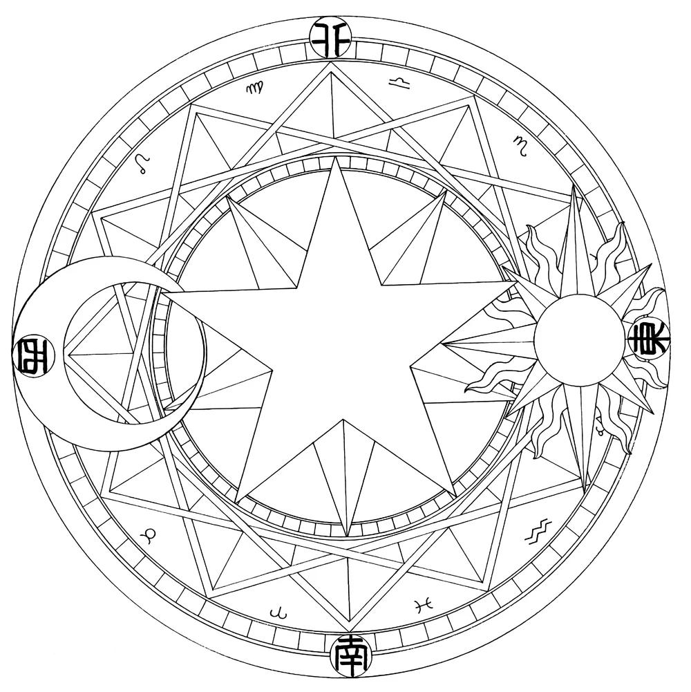 Circulos Magicos Wiki Sakura Cardcaptor Fandom Powered By Wikia Sakura Tattoo The Moon Tarot Card Cardcaptor Sakura