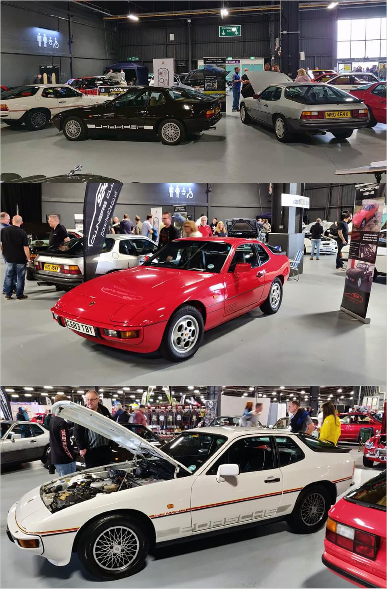 Porsche Owners Club Stand At Manchester Classic Car Show - Car show england