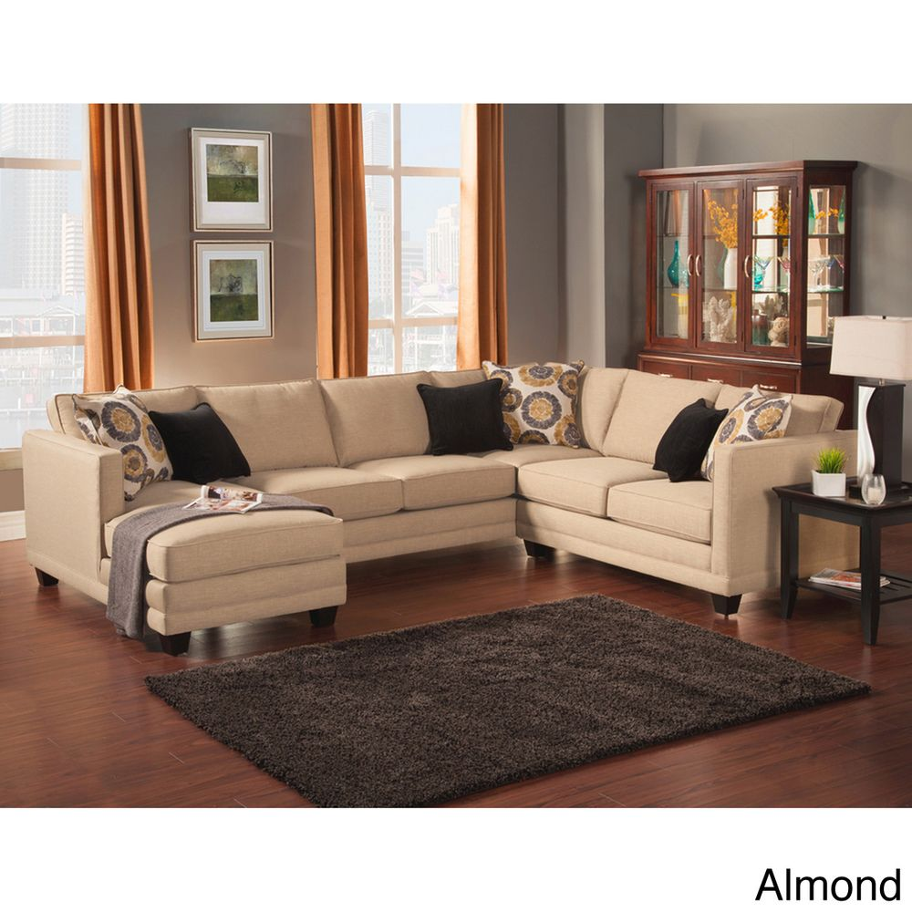 Merveilleux Furniture Of America U0027Zeal Lavishu0027 Contemporary Fabric Upholstered Sectional    Overstock™ Shopping   Big Discounts On Furniture Of America Sectional  Sofas