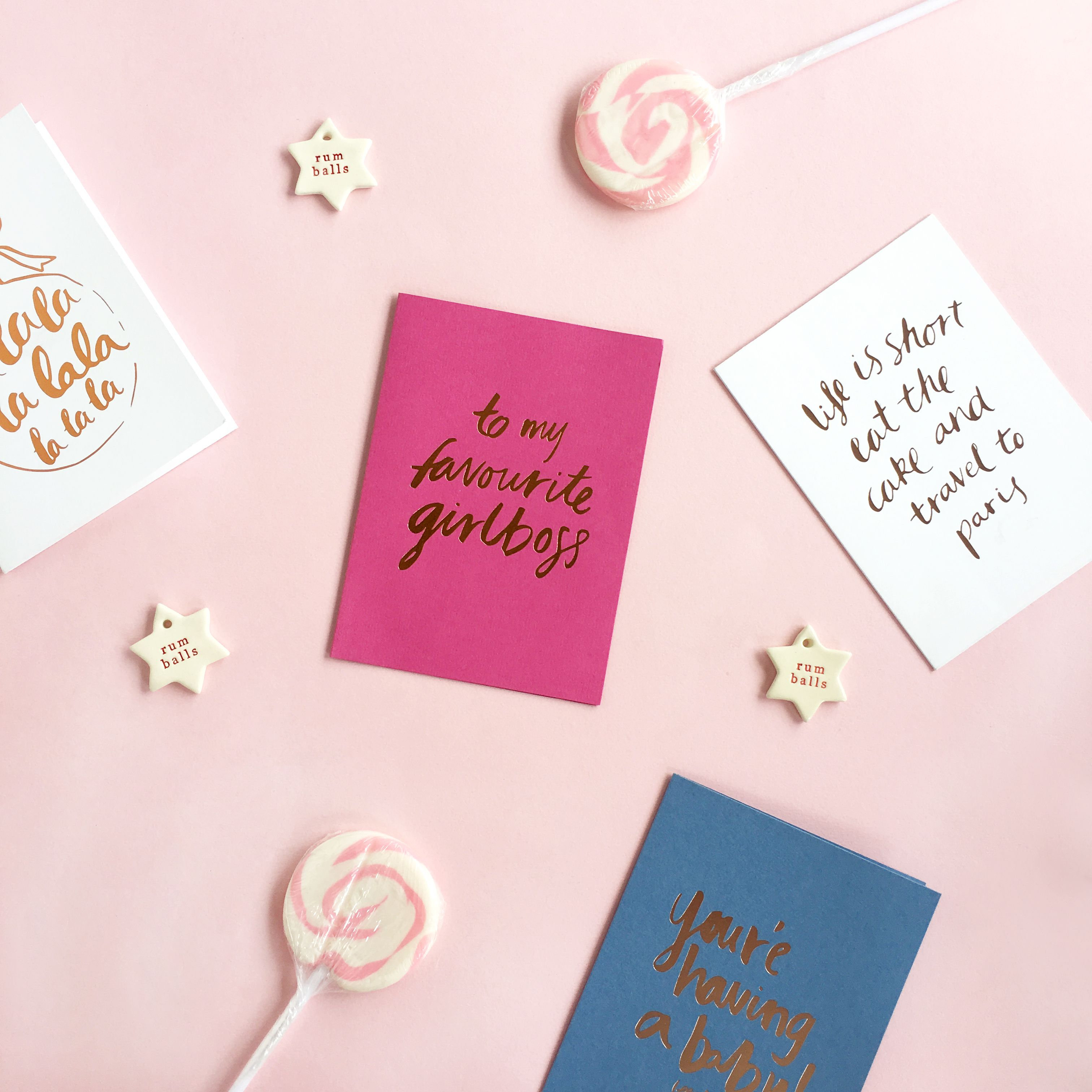 To My Favourite Girl Boss... How Cool Are These Cards