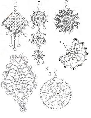 Crochet Earrings Diagrams