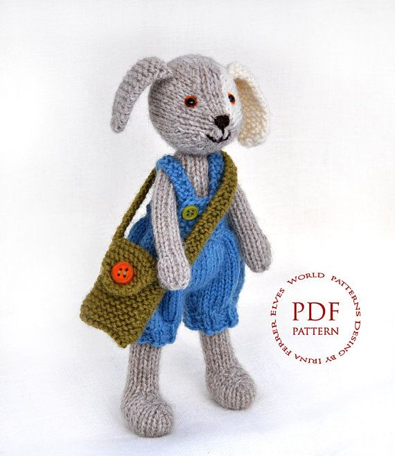 Toy Dog Puppy Knitting Pattern Knitted Puppy Amigurumi Doll Pattern