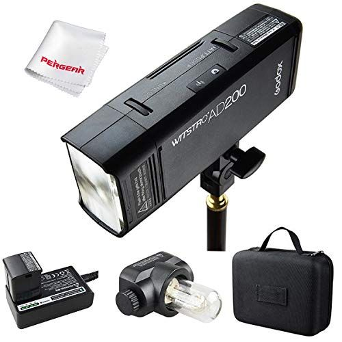 Godox AD200 200Ws 24G TTL Flash Strobe 18000 HSS Cordless Monolight with 2900mAh Lithimu