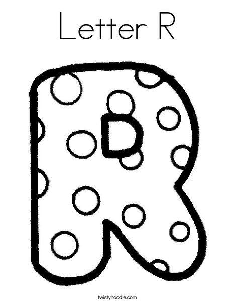 Letter R Coloring Page Bubble Letters Alphabet Lettering Alphabet Pattern Coloring Pages