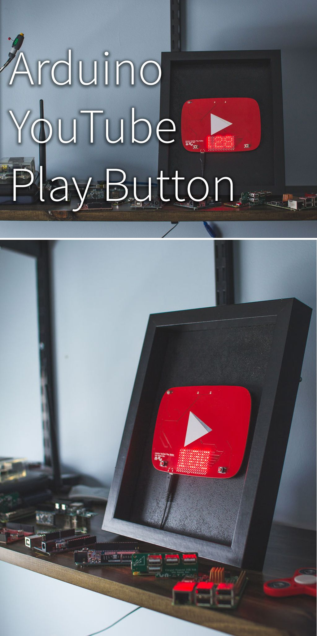 Arduino youtube play button diy buttons arduino useful