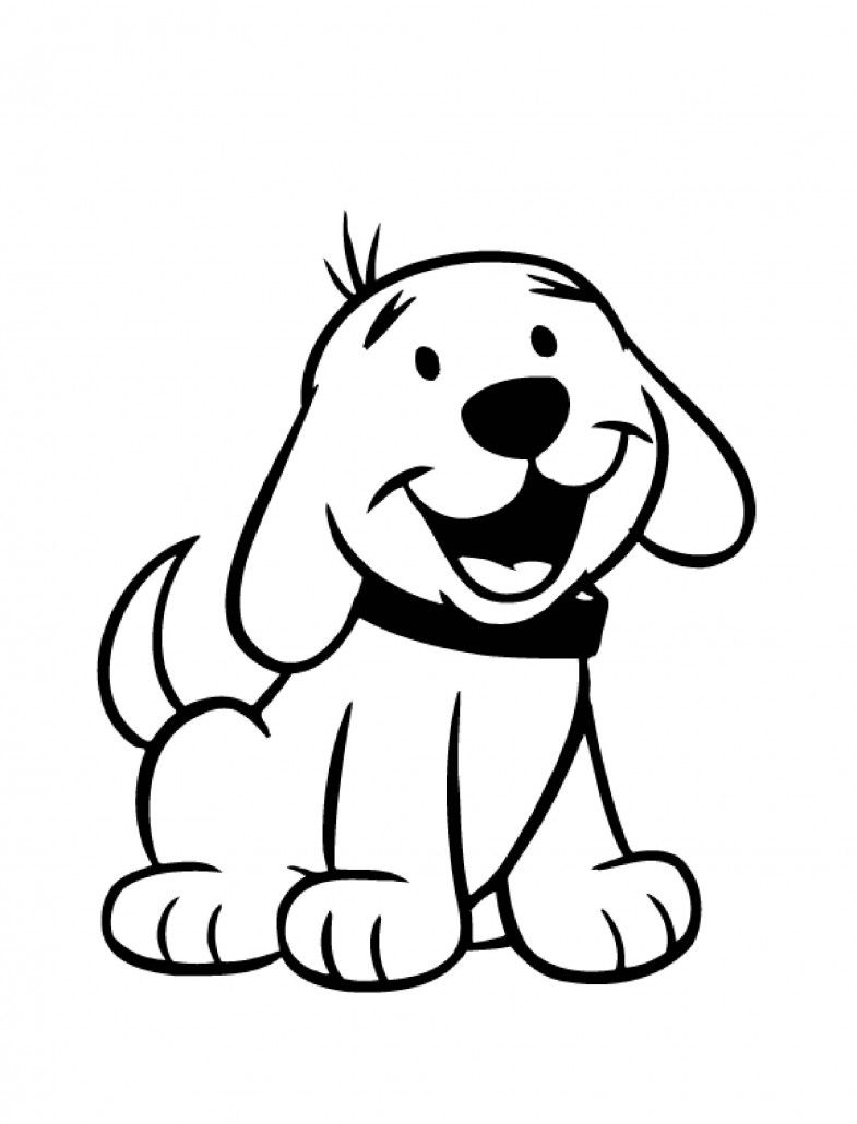 dog coloring pages for kids preschool and kindergarten dog