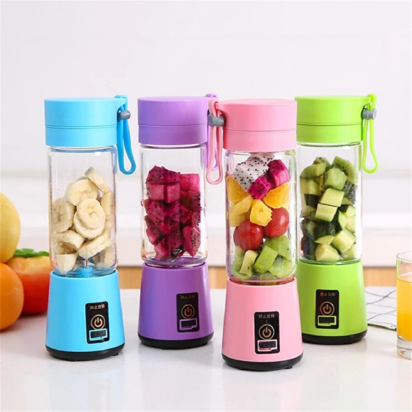 400ml Eectric Portable Mini Blender Smoothie Juicer USB Rechargeable Fruit Cup