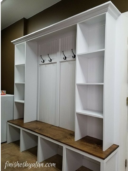 Mudroom Bench With Dual Side Cubbies Diy Mudroom Bench Plans Mudroom Bench Plans Diy Mudroom Bench