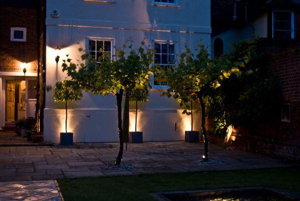 outdoor uplighting on trees and topiary garden lighting ideas63 garden