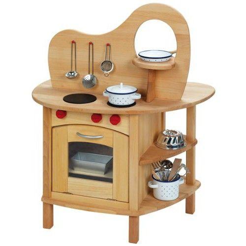 Beidseitig bespielbare Spiel-Holzküche | Kinder Spiele, Möbel ...