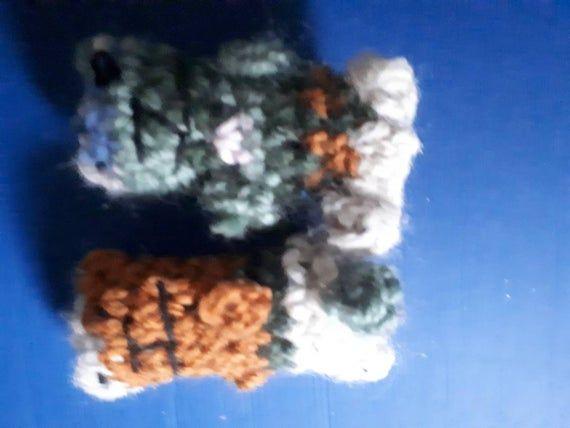 Fran&Ken- 3inch crocheted teddy bears #crochetteddybears