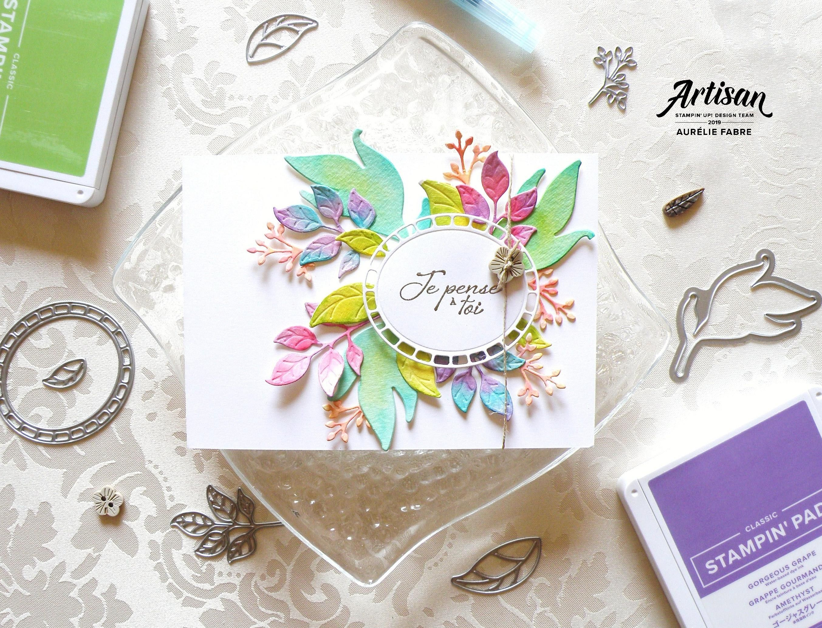 Watercolor Vs Stampin Blends Fond De Carte Cartes A L Aquarelle