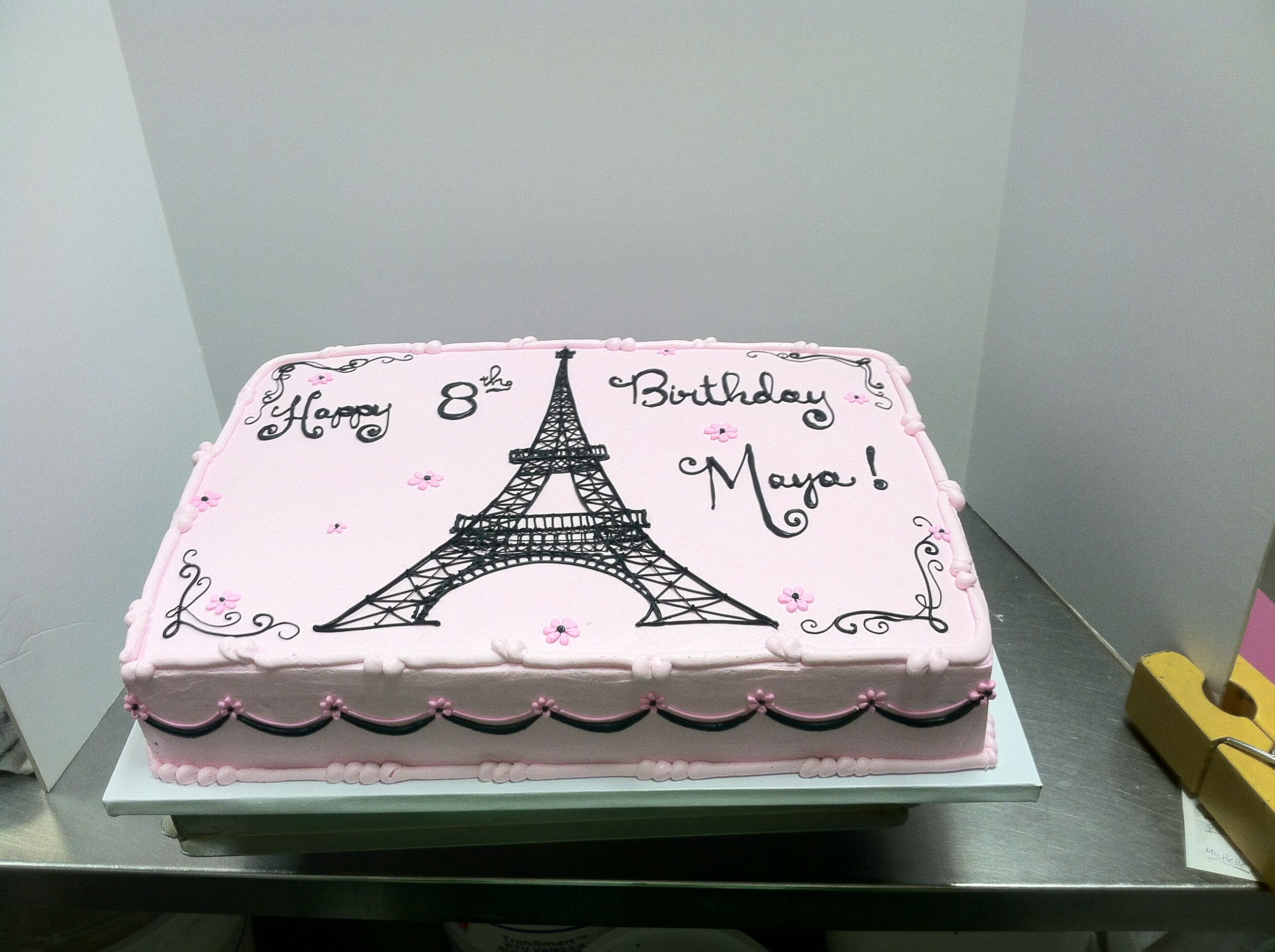 Wondrous Eiffel Tower Cake Lyckytreats Eiffeltower With Images Paris Personalised Birthday Cards Beptaeletsinfo