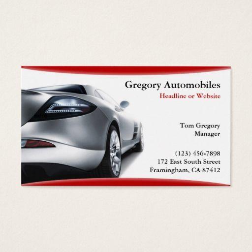 Auto Cars Business Card Zazzle Com Business Cards Small Luxury Cars Auto Body Shop