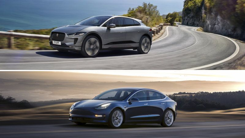 Jaguar I Pace Vs Tesla Model 3 Vs Chevy Bolt Vs Hyundai Kona