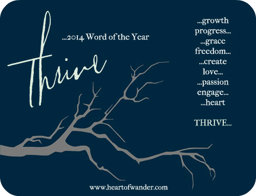 2014 Word of the Year: Thrive