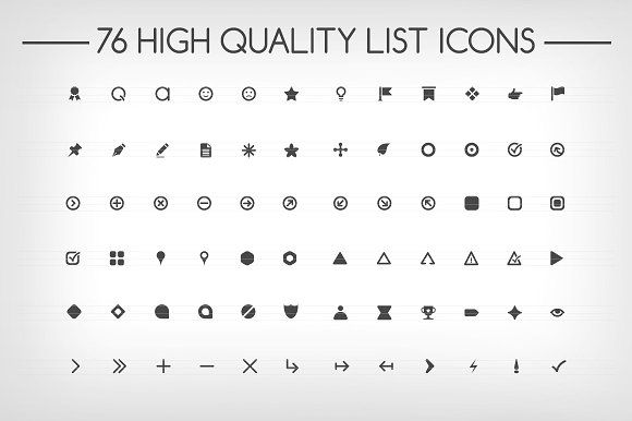 bullet points fonts   76 high quality list icons   ai